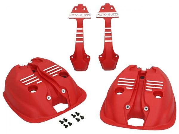 Cilinderkopdeksels (set) rood voor Moto Guzzi V7 III