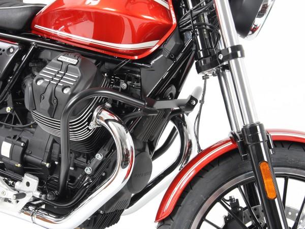 Motorbeschermbeugel zwart voor V 9 Roamer (Bj.16-) origineel Hepco & Becker