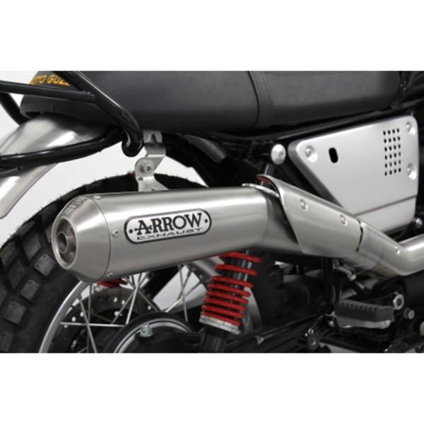 Originele Moto guzzi V7 III 2018- uitlaatsysteem Arrow, Euro 4, 2 in 1