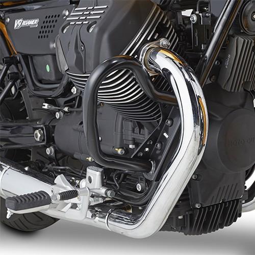 Zwarte valbeugel voor Moto Guzzi Original Givi