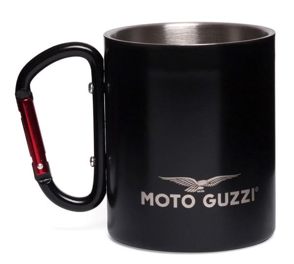 Moto Guzzi beker aluminium zwart