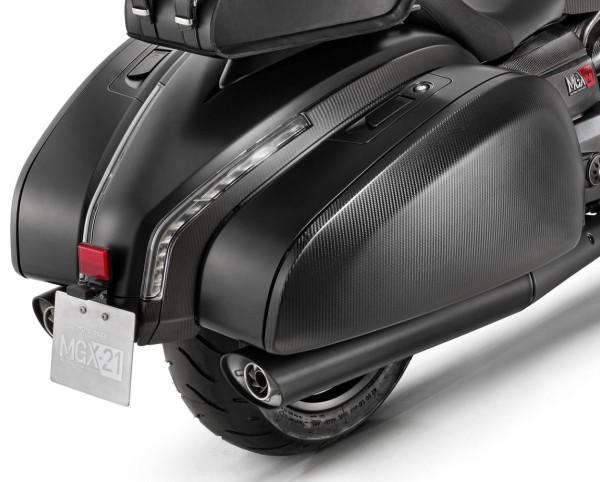 Origineel uitlaatsysteem slip-on voor Moto Guzzi MGX 21