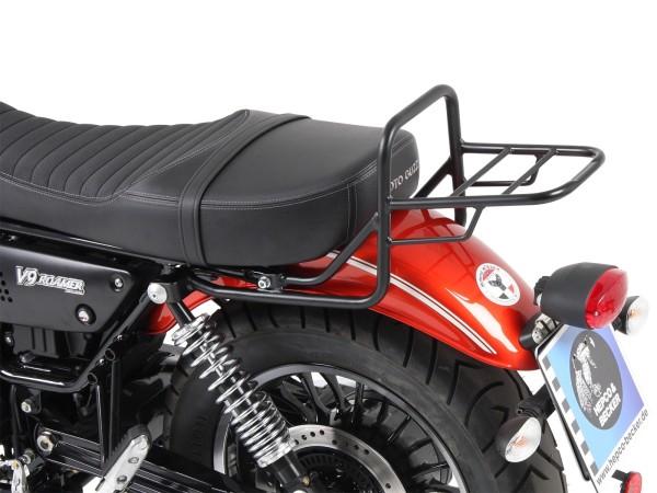 Buis bagagerek topkofferdrager zwart voor V 9 Bobber (Bj.17-) model met lang zadel