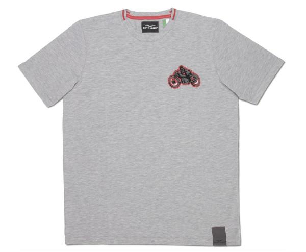 Moto Guzzi heren T-shirt garage katoen grijs
