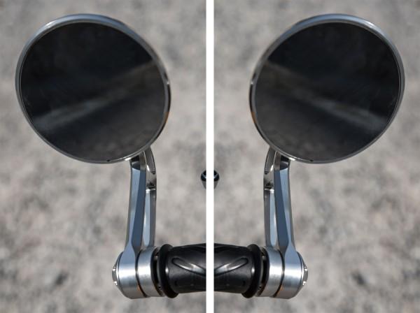 Stuureindspiegel, set, aluminium voor Moto Guzzi V7 III origineel