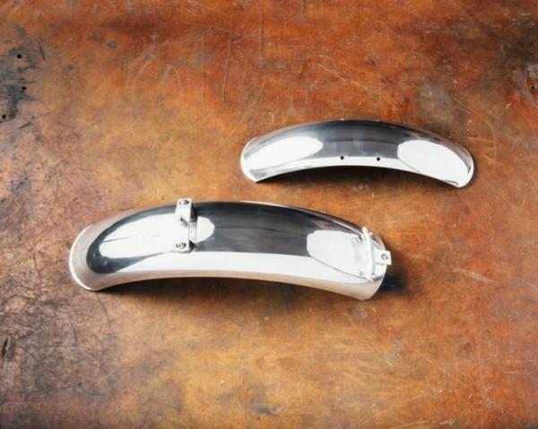 Aluminium spatborden, paar, chroom voor Moto Guzzi V7 I + II, V7 III