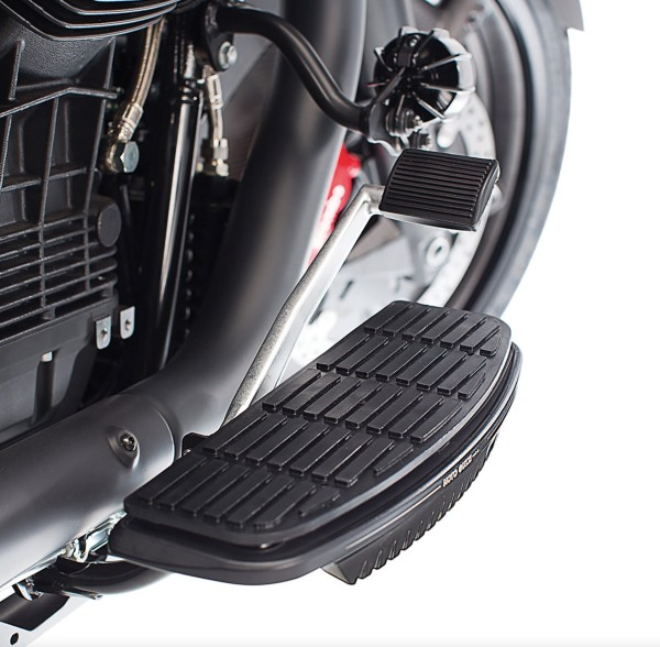 Treeplankhoes, aluminium, zwart voor Moto Guzzi MGX 21 / Audace