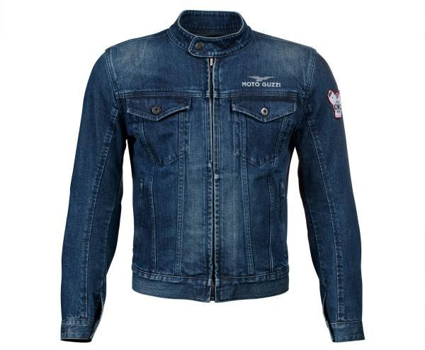 Moto Guzzi jack blauw polyester denim