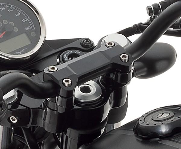 Stuurhoes, aluminium, zwart voor Moto Guzzi V7 III