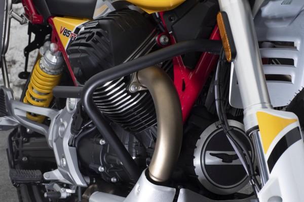 Originele motorbeschermbeugel, zwart voor Moto Guzzi V85 TT