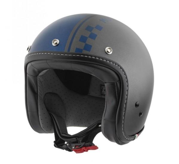 Moto Guzzi Jethelm Ches grijs blauw