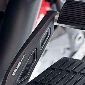 Afdekking, aluminium, zwart, voor voetremhendel voor Moto Guzzi MGX 21 / Audace