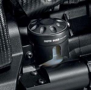 Origineel deksel voor remvloeistofreservoir, aluminium, zwart voor Moto Guzzi MGX 21