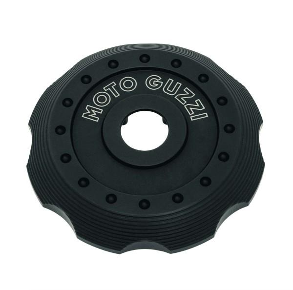 Afdekking voor tankdop, zwart aluminium voor Moto Guzzi V7 III / V7 850