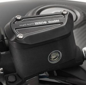 Afdekking, aluminium, zwart voor Moto Guzzi MGX 21