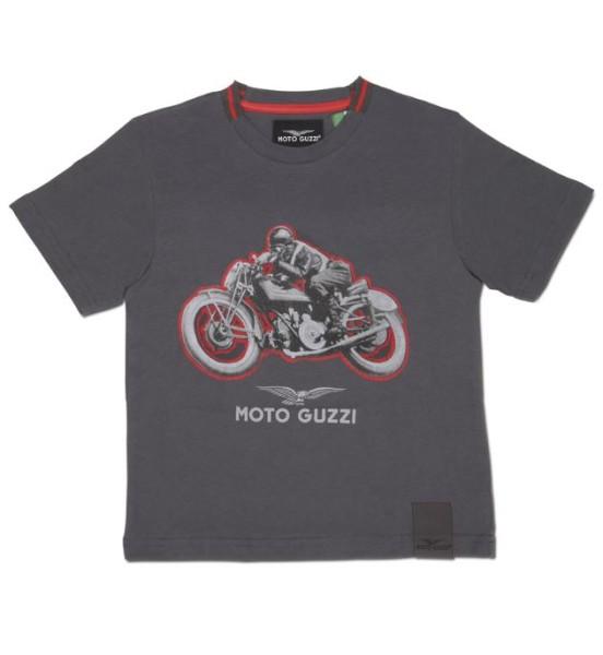 Moto Guzzi kinder t-shirt garage katoen grijs
