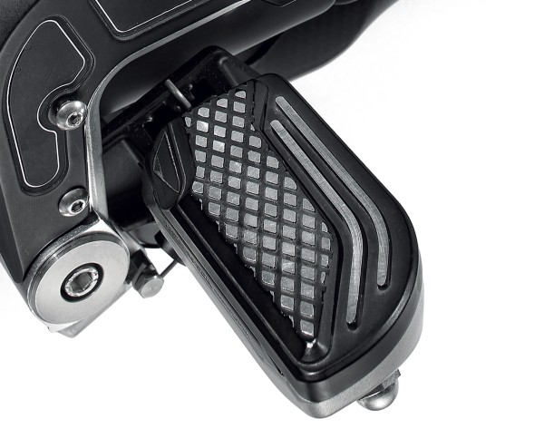 Voetsteunhoes, aluminium, zwart voor Moto Guzzi MGX 21