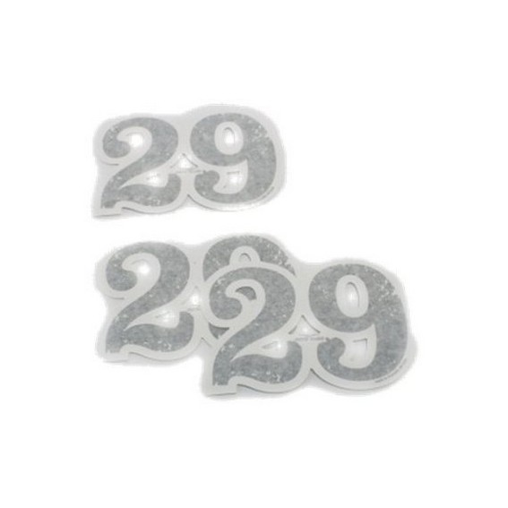 Originele decorset, 29, zelfklevende nummers, aluminium voor Moto Guzzi V7 I + II