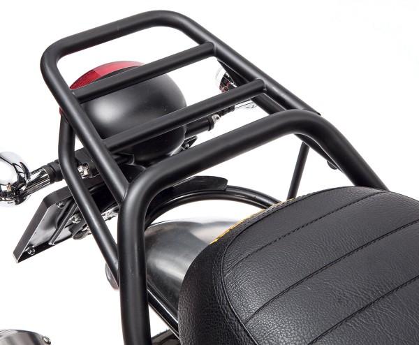 Bagagerek, achter, zwart, stijf voor Moto Guzzi V7 I + II, V7 III