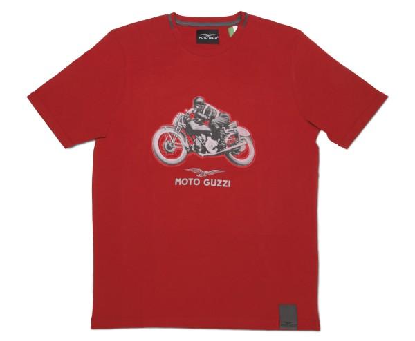 Moto Guzzi heren garage katoenen t-shirt rood