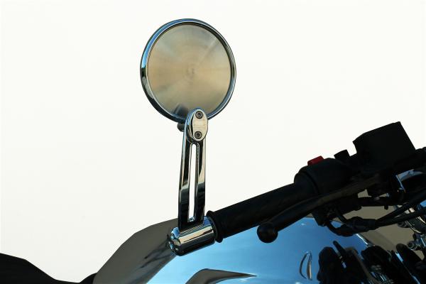 Originele spiegel, aluminium, zilver voor Moto Guzzi V7 III