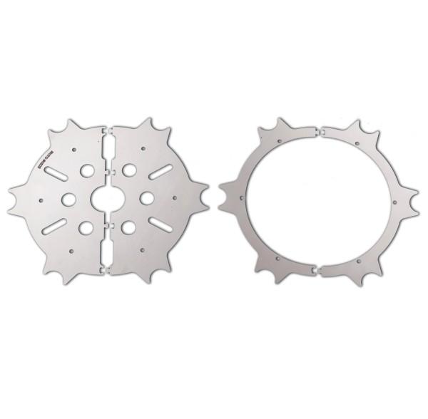 Originele remschijfkap, roestvrij staal, zilver, gepolijst voor Moto Guzzi Eldorado