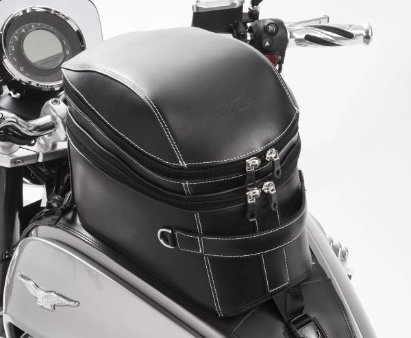 Originele tanktas, leer, zwart voor Moto Guzzi Eldorado