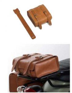 Originele leren tas, bruin voor Moto Guzzi V7 I + II