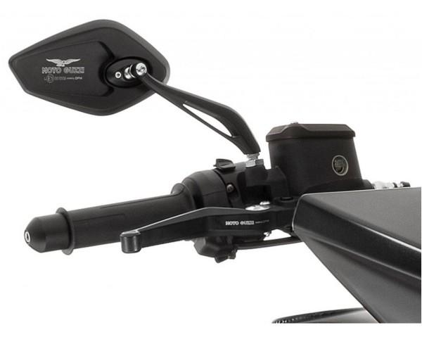 Spiegel, set, aluminium, zwart voor Moto Guzzi MGX 21
