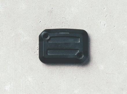 Deksel voor remvloeistofreservoir, aluminium, Dark Rider, zwart voor Moto Guzzi V7 III