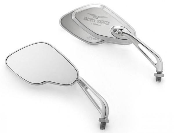 Spiegel, set, aluminium, chroom voor Moto Guzzi California