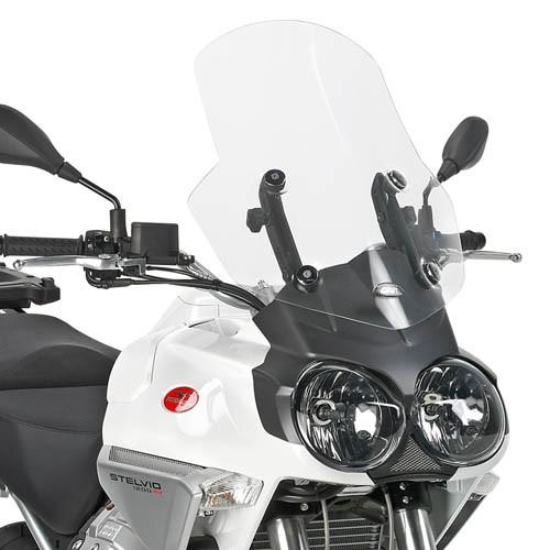 Transparant windscherm voor Moto Guzzi Stelvio 1200 (Bj.08-10) origineel Givi