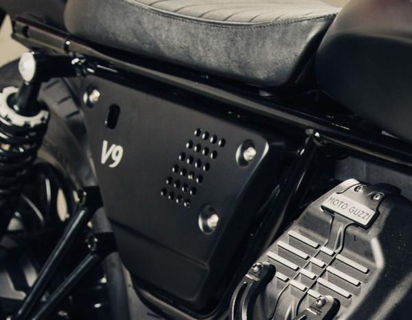 Aluminium zijkappen set zwart Moto Guzzi V7 III / V9 Bobber