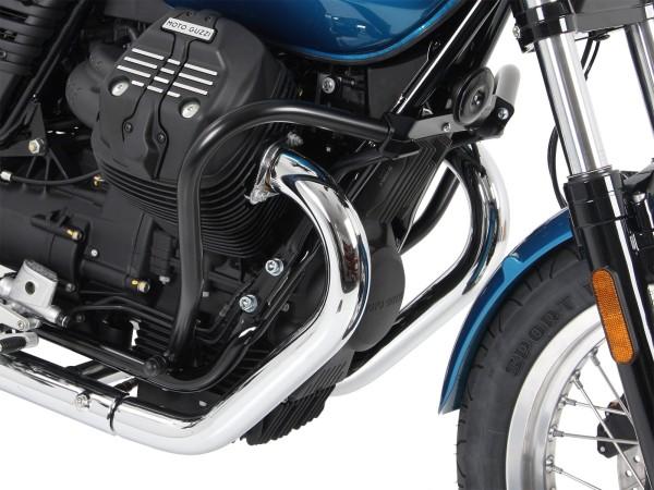 Motorbeschermbeugel zwart voor V 7 III steen / special / Anniversario / Racer (Bj.17-)