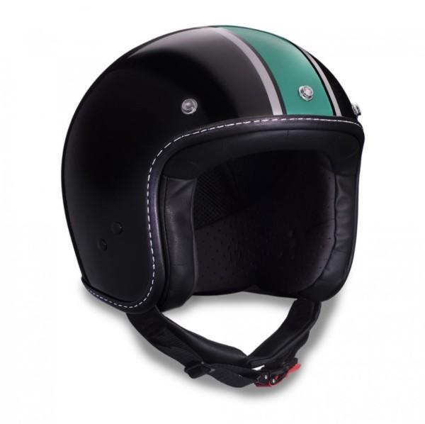 Moto Guzzi jethelm, V7 III Special, zwart, groen, zilver, zwart