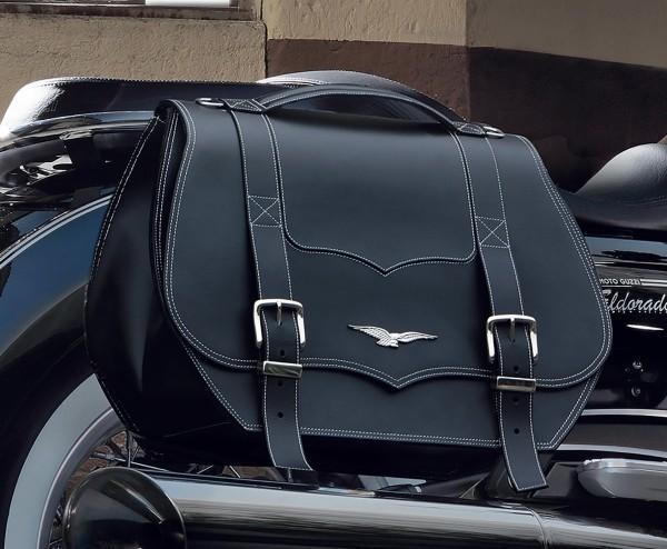 Originele fietstassen, leer, zwart, 23 l voor Moto Guzzi Eldorado