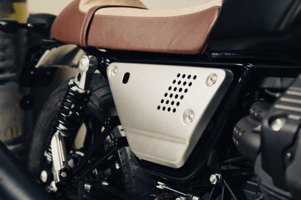 Aluminium zijkappen set zilver Moto Guzzi V7 III / V9 Bobber / Roamer