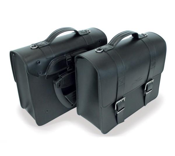 Zijtas, zwart voor Moto Guzzi V7 III / V9 Bobber / Roamer / Audace