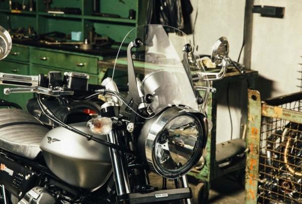 Koplampframe, chroom voor Moto Guzzi V7 III / V9 Bobber / V9 Roamer