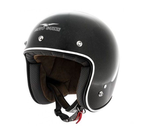Moto Guzzi Jethelm Metal Flank Zwart Helm