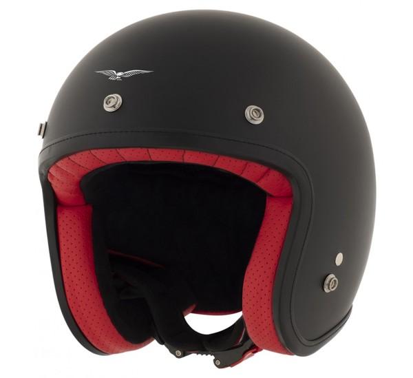 Moto Guzzi jethelm, The Clan, zwart, mat